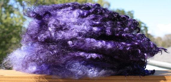 2 OZ Lincoln Wool Locks - Hand Dyed Midnight Blue