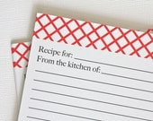 SALE - 50% OFF - Red Recipe Cards