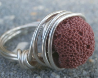 Natural pumice stone etsy for Jewelry made from kidney stones