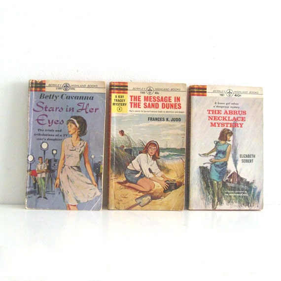 3 Vintage Teen Romance Novels 1960s Berkley Highland Books Lot