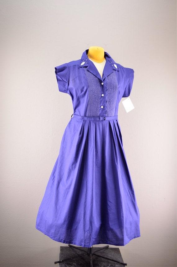 1940s Day Wear: 1940s Day Dress / Vintage 40s Dress / 40s Cotton By Melsvanity