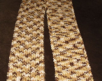 Rainbow Classic Neutrals Knit Scarf 6 x 69