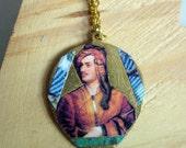 Lord Byron Brass Pendant
