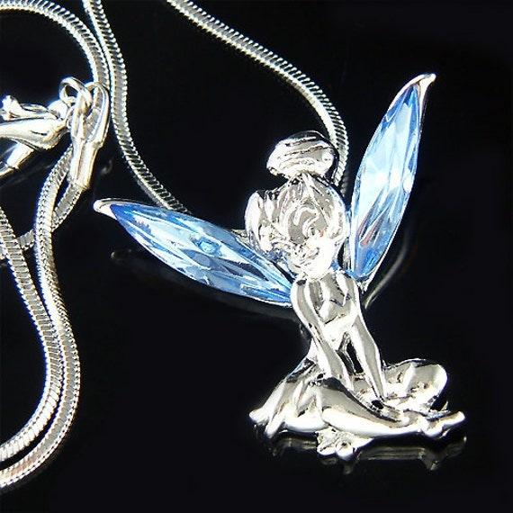 Blue Swarovski Crystal Fairy Tinkerbell Tinker Bell Angel