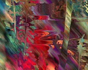 Quilting Textile Artist Made Fabric 4 Panels Aurora Boreali Landscape Tree College Fiber Art