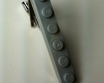 Tie Clip made with Light Grey LEGO® plate
