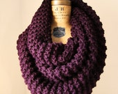 Super Snuggly Chunky knit cowl Plum.