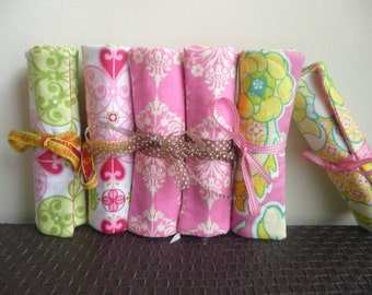 Bulk Order for Bridesmaid Gift Set of 9 Travel Jewelry Rolls - Free Shipping