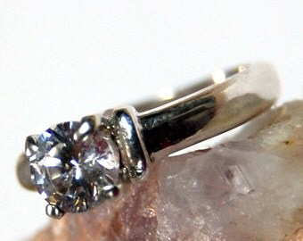 Sterling and CZ ring - Size 5