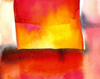 Abstraction Series . 210 ... Original abstract watercolor art ooak painting by Kathy Morton Stanion  EBSQ