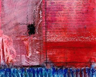 Magic Portal .. 1 ... Original Contemporary Modern Textured mixed media flower art painting by Kathy Morton Stanion EBSQ