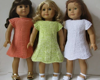 American Girl 18 inch ART DECO mini DRESS  Knitting pattern (47)