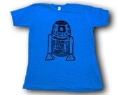 Droid  Woodblock Printed Tee Shirt in hand printed gift box
