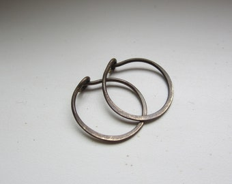 Small Sweet n' Simple Antique Brass Hoops 5/8""