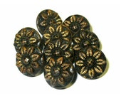 Vintage Metal Buttons x9 ...
