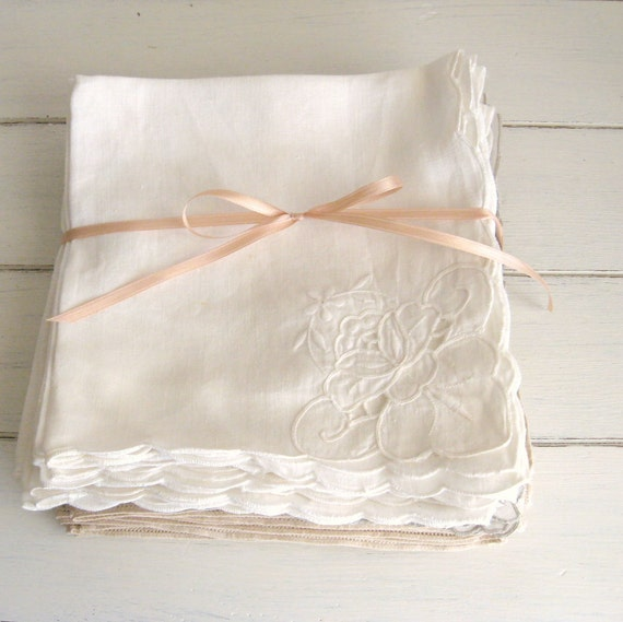 20 vintage linen napkins - instant collection