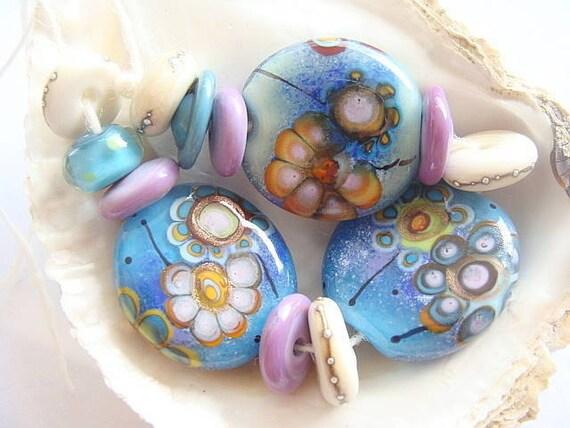 13 Handmade Lampwork Beads