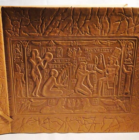 Vintage Egyptian Leather Photo Album