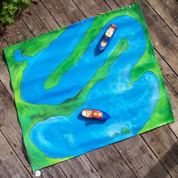 Boating Play Mat  Twisty River
