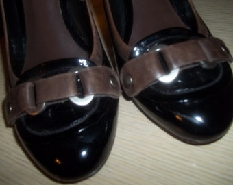 Classic NINE WEST Patent Leather Two-toned Spectator Pumps Shoes - Size 9.5M