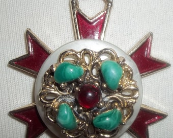 Totally Unique EYE-POPPING Vintage Necklace for a Fashionista