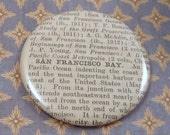 SHOP CLOSING SALE San Francisco Bay Magnet, Vintage 1920s Encyclopedia