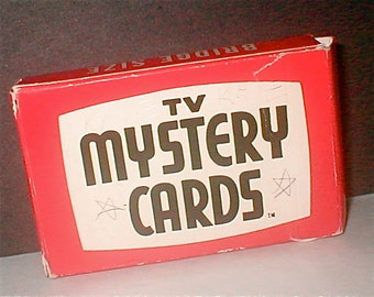 TV Mystery Cards -  Vintage 1970 -  Magic Card Game for All Ages