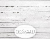 """Vinyl Photography Backdrop 5ft x 7ft, Photo Backdrop / Floordrop, Vintage White Wood Planks, White Wood Floor Backdrop, """"A Life Well Lived"""""""