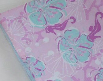 Lavender Seahorses Minky Security Blanket Lovey