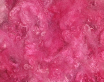 Border Leicester fleece,Lamb and Yearling 4 ounces, Pretty in Pink