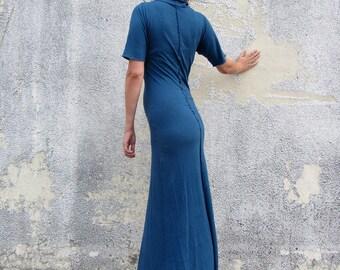 Women's ORGANIC Hampi Warrior Simplicity Long Dress ( LIGHT hemp/organic cotton knit )
