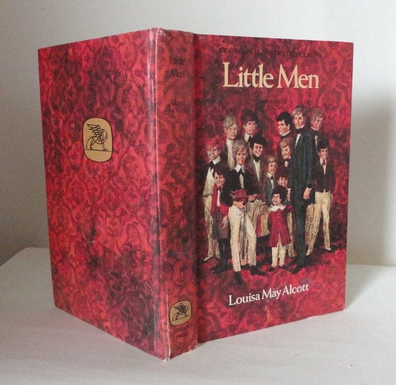 Little Men Hollow Book Box from Vintage Book Cover Keepsake Stash Box Illustrated Cover Manly Groomsman Gift Idea Wedding Party Wooden