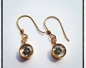 Gold Plated Poppy Seed Earrings - by Allie M.