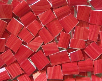Mosaic Tiles - Red--Brushed- 100 tiles