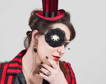 Pirate Cameo & Lace Eye Patch