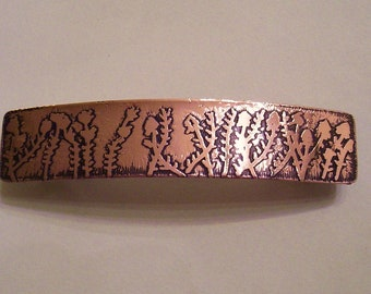 Blooming Ocotillos Copper Barrette - Large