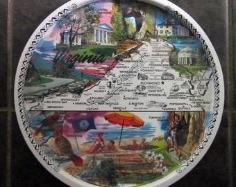 Vintage Tin Tray - Virginia Souvenir