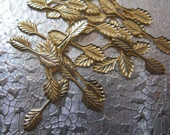Fold Over Leaf Bails Gold Plated 24 Bails Jewelry Findings 22mm