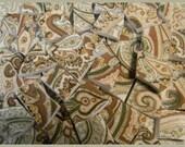 China Mosaic Tiles --- BOHO PAiSLEY SHAWL--- 125 China Mosaic Tiles