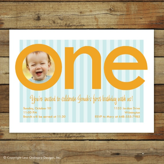 Items Similar To First Birthday Party Invitation, First