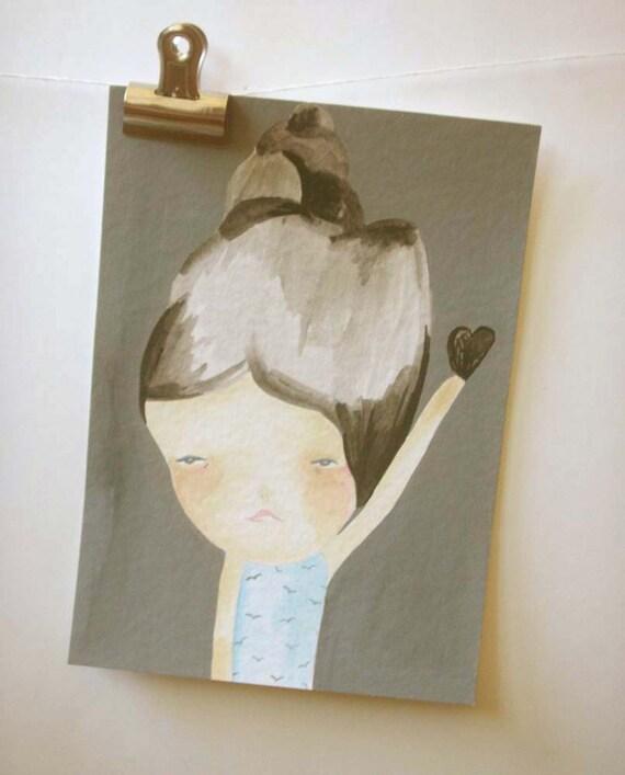 original painting- your black heart back // typhoon haiyan/yolanda relief