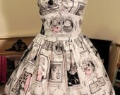 EXCLUSIVE HALLOWEEN DESIGN - The Ghastlie Family Tree Jumperskirt Size S