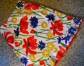 M-L Kitchy Vera Tablecloth Skirt  Remix Upcycled Vintage 1960s