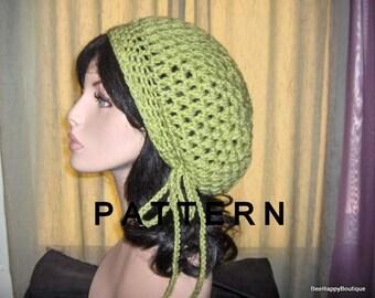 Puffy Womens Slouchy Hat PATTERN Womens Crochet Puffy Tam Hat Yarn Crochet Slouchy Womens Hat Pattern