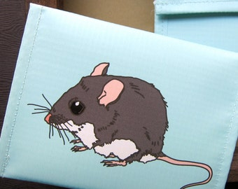 Deer Mouse Coin Purse / Pouch / Wallet --Eco Friendly