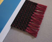 Black and Red Wine Bookmark - Hand Woven