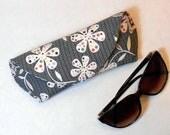 Eye Glass or Sun Glass Case Large - Polka Dot Flowers