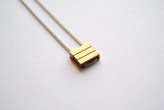 Three Bar Necklace - Minimal Handmade Jewelry - Free Shipping in the US