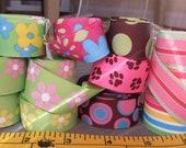 Pink Green Blue Bag-O-Ribbon