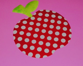 Applique PDF TEMPLATE Pattern ONLY....Chubby Apple...New